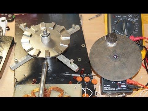 Самодельный генератор для ветряка из Неодимовых магнитов ТЕСТ 7