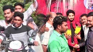 Sudheer Babu Fans Hangama at Eluru | Nannu Dochukunduvate Promotional Tour