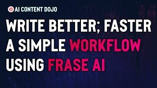 Download lagu Using the New Frase AI Writer in a Simple Workflow | Write - Edit - SEO - Publish (Frase Tutorial)
