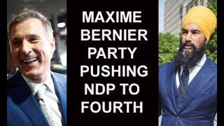 Maxime Bernier Party Pushing NDP & Jagmeet Singh To 4th In Fundraising & Party Preference