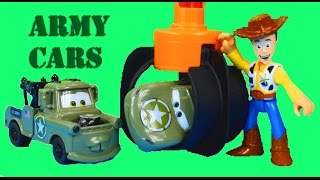 Disney Pixar Cars Army Car McQueen & Mater Save Woody Toy Story Tri-County Landfill Just4fun290