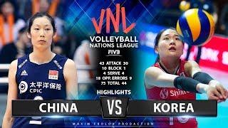 China vs Korea   Highlights   Women's VNL 2019