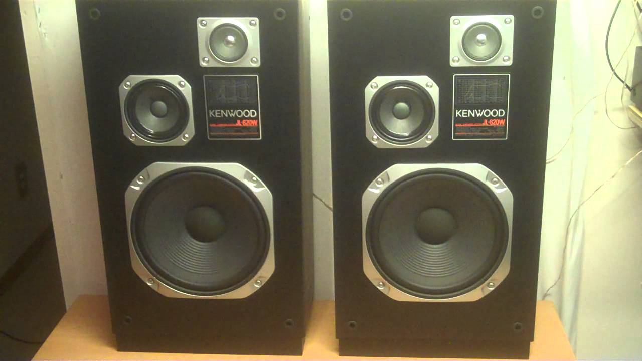Vintage Kenwood Jl 620w Floor Speakers Youtube