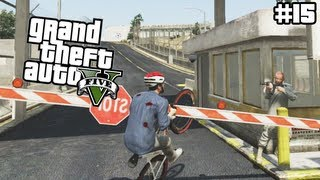 GTA 5 - Entering the Military Base on a Bike - (GTA V Lets Play #15)