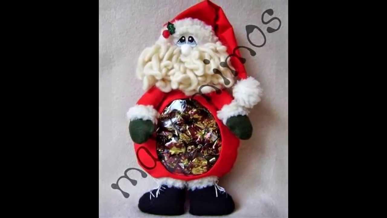 Mu ecos de navidad 2013 2014 ecoartesanias youtube - Munecos de navidad ...