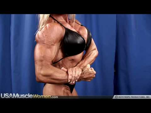 Female Bodybuilder Debi Laszewski Poses