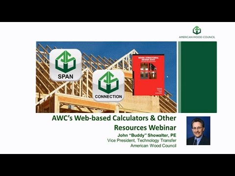 AWC Web-Based Calculators and Other Resources