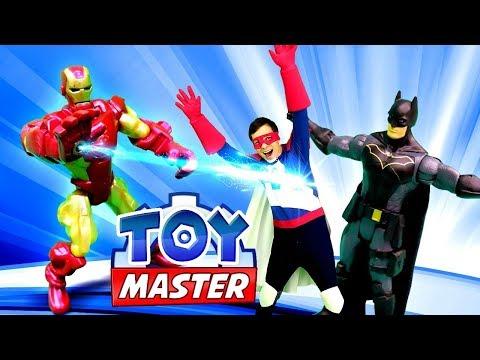 Игры для мальчиков – Железный Человек против Бэтмена? – Видео шоу Той Мастер.