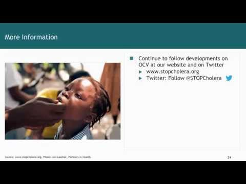 GLOBAL: Dr. David Sack Presents an Introduction to Cholera Vaccine (2014)