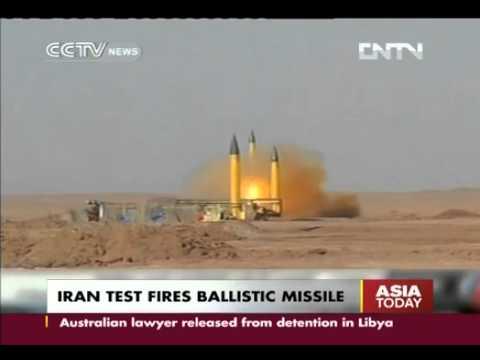 Iran test fires several ballistic missiles