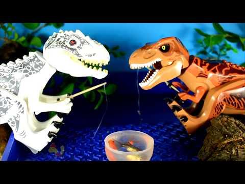 Про ДИНОЗАВРОВ СБОРНИК все серии подряд: Индоминус, Тираннозавр и +БОНУС!Микс для детей.Выбирай Приз