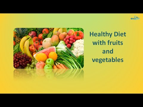 Healthy Diet with Fruits and Vegetables  |  Healthy Eating Tips and Habits