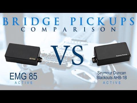 EMG 85 vs Seymour Duncan BLACKOUTS - Active Bridge Pickup Guitar Tone Comparison / Review