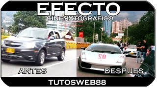 Efecto Cinematografico Sony vegas tutorial