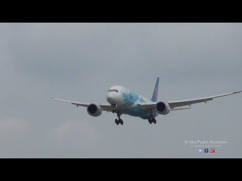 China Southern Airlines Boeing 787-8 | Landing | Runway 27L Heathrow Airport