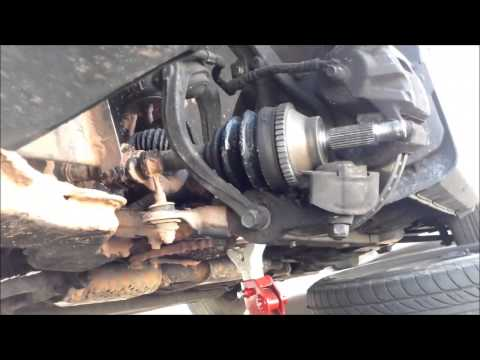 DIY How to replace install driver side axle 2005 Hyundai Sonata