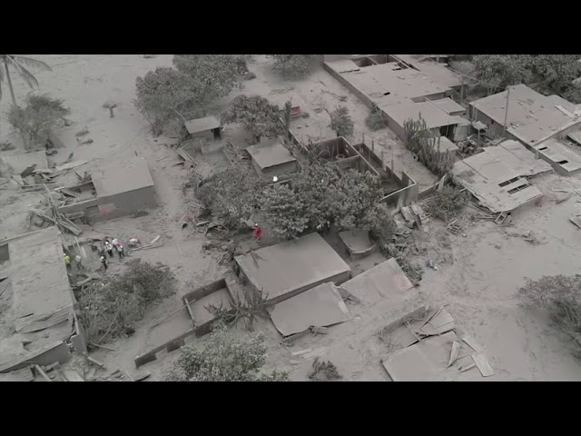 Drone Footage Shows Guatemala Volcano Damage