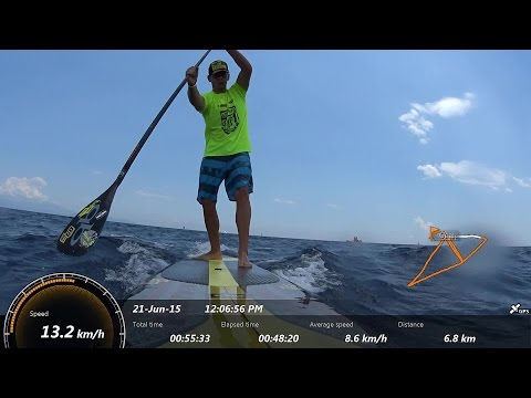 George Konstantis run in the 5th Hellenic SUP CUP @ Loutsa