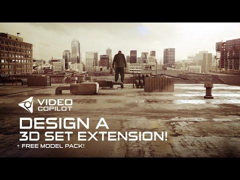 Design a 3D Set Extension Tutorial! + FREE model pack!