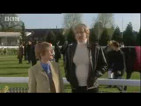 Clare Balding and Willie Carson at the races - BBC