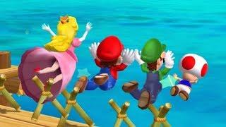 Mario Party 9 - Minigames - Mario VS Luigi VS Peach VS Toad (Master COM)