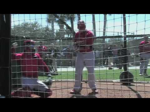 St. Louis Cardinals Batting Practice - Spring Training 2010 Video