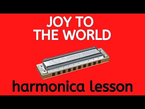 Joy To The World - Christmas Harmonica Play-Along Lesson + Awesome Bending Practice