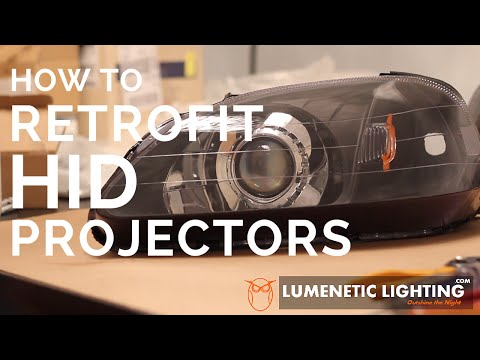 How to DIY HID Retrofit - 99-00 EK Honda Civic with Mini H1 6.0 Projectors lumeneticlighting.com