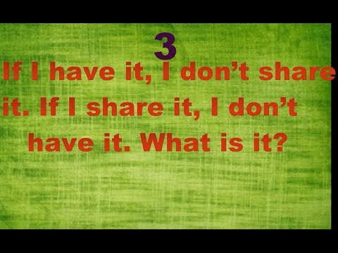 Test Your IQ , 5 Riddles Hard To Solve , Only Inteligent Peoples Can Solve