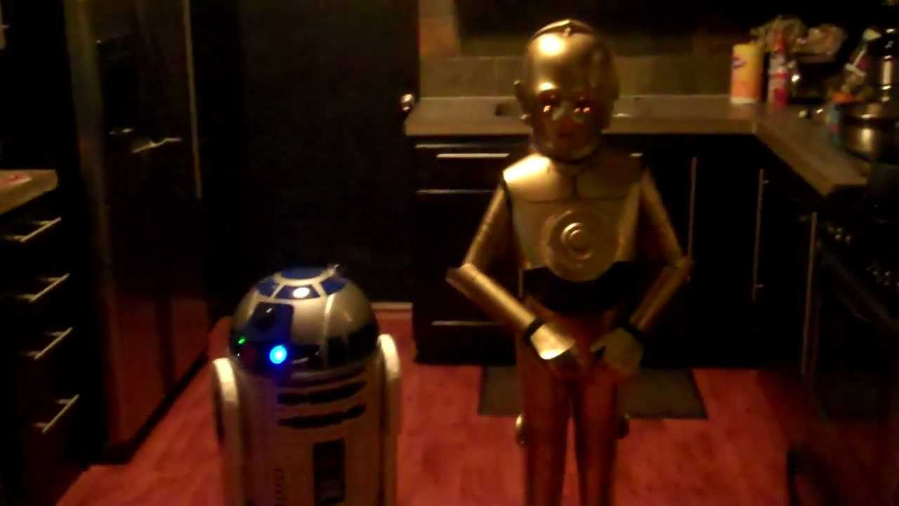 R2d2 And C3po Costumes Best C3PO and R2D2 homemade