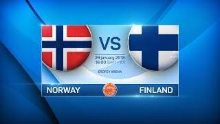 BANDY WORLD CHAMPIONSHIP 2018. NORWAY - FINLAND