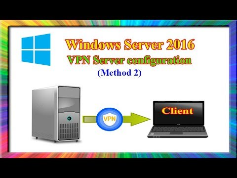 how to install and configure a VPN Server in Windows Server 2016