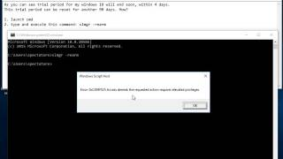 Windows 10 - How to reset Windows 10 trial period