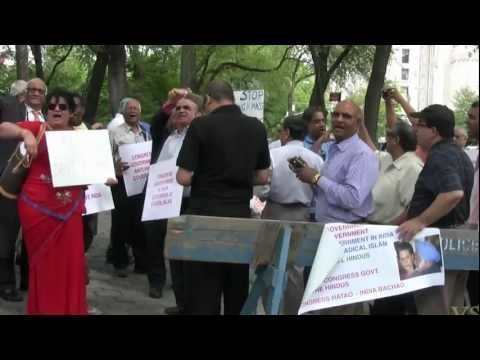 Hindus Protest Indian Congress & Sharia Law NYC- 5th Ave & 64th St