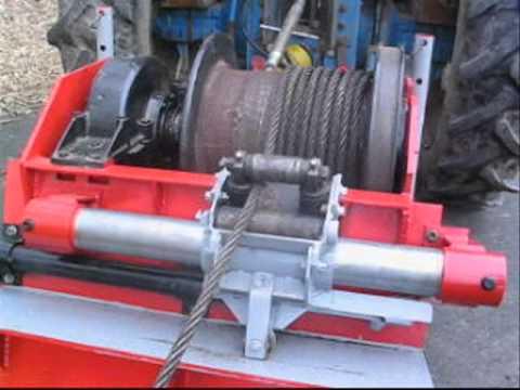 Eigenbau Seilwinde mit hydraulischer Seilführung
