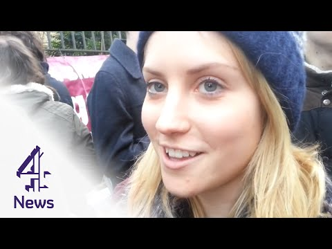 Why Oxford students are listening to Marine Le Pen speak | Channel 4 News