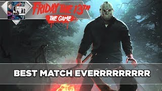 BEST MATCH EVER!!! - Friday The 13th: The Game - Gameplay