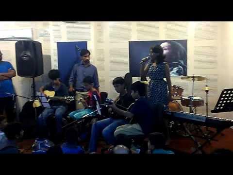 diya performing at world music conservation jam1