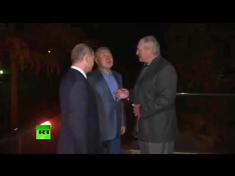 Владимир Путин провел неформальную встречу с Лукашенко и Назарбаевым в резиденции в Сочи