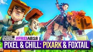 0242 🔴 Pixel & Chill mit PixARK, MadTV, FoxTail (+Zukunft von SoT) 🔴 Gronkh Livestream | 06.04.2018