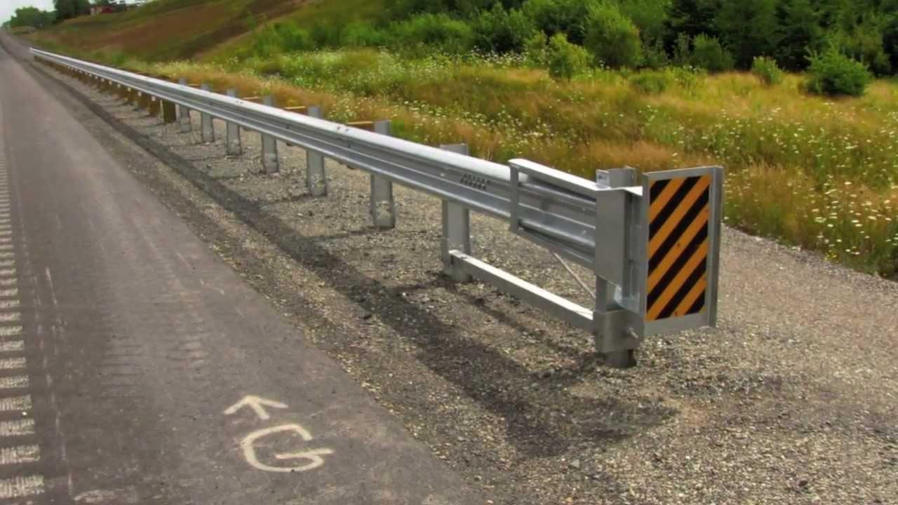 Energy Absorbing Guard Rail - YouTube