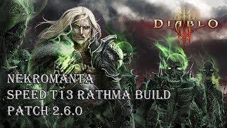 Diablo 3 RoS - Speed T13 Necro Rathma Build (Patch 2.6.0)