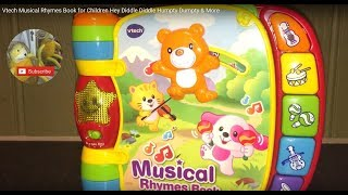 Vtech Musical Rhymes Book for Children Hey Diddle Diddle Humpty Dumpty & More