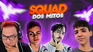 FREE FIRE🔥SQUAD DOS MITOS🔥#MESTRE FT WEEDZAO FT PROPLAYER FT MAX! HOJE TO INSANO!T