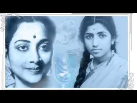 Geeta Dutt  Lata : Pyar bhari in aankhone : Film - Parbat (1952...