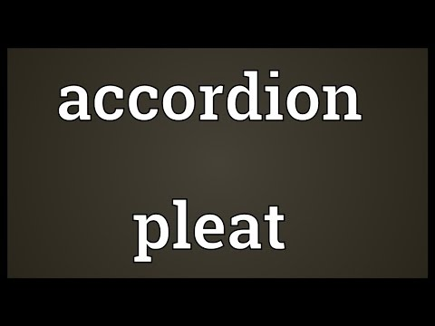 Header of Accordion Pleat