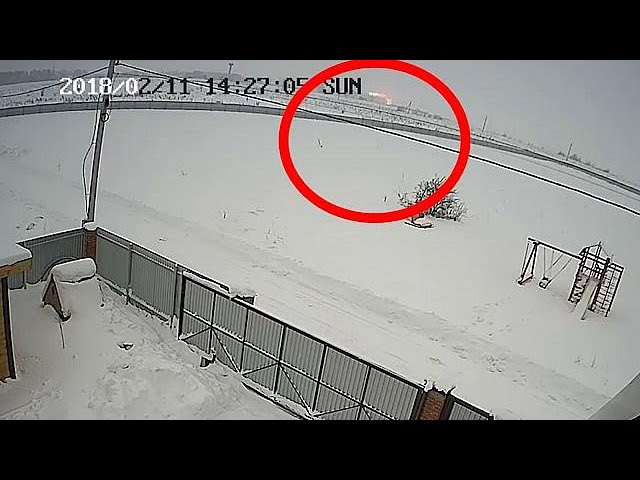 CCTV shows moment of plane crash near Moscow