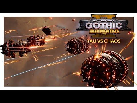 BATTLEFLEET GOTHIC ARMADA 2 | KROOT BALLS OF FURY - Tau Merchant Fleet vs Chaos (Ranked 1v1) #1