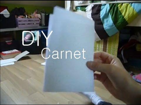 Fabriquer un carnet make a notebook youtube - Fabriquer un carnet ...