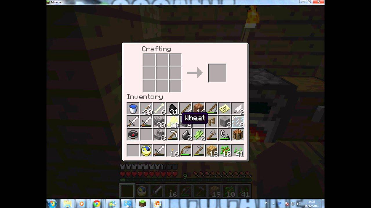 como fazer pão no minecraft(Por favor entrem no canal da descriçao)  YouTube -> Como Fazer Banheiro Moderno No Minecraft